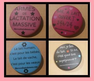 badges SMAM 2014 allaitement lactiviste