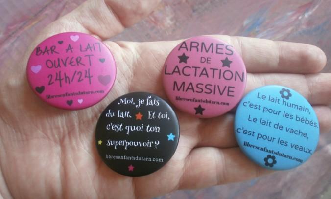 badges SMAM 2014 lactivisme promotion allaitement