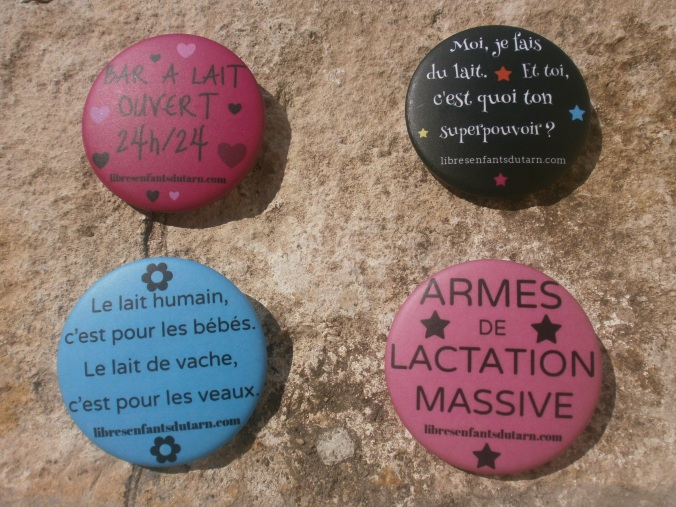 SMAM 2014 badges lactivisme allaitement soutien promotion