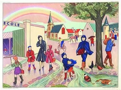 Image d'Épinal école réforme des rythmes scolaires peillon marcel rufo  association libres enfants du tarn albi 81