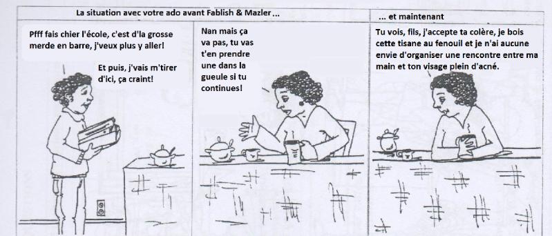 fablish et mazler mauvaise traduction BD communication non violente CNV manipulation parodie ateliers faber et mazlish  libres enfants du tarn albi 81