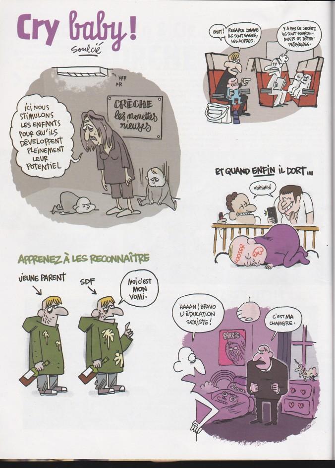 Bande dessinée Soulcié Fluide Glacial enfant bébé parent