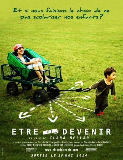 affiche etre et devenir ciné-débat Albi cinéma athanor programmation libres enfants du Tarn instruction en famille