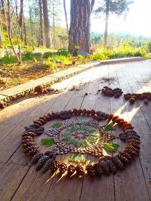 landart mandala albi tarn balade en forêt famille