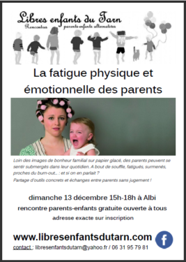 affiche rencontre parents extra-terrestres albi tarn burn-out fatigue parents