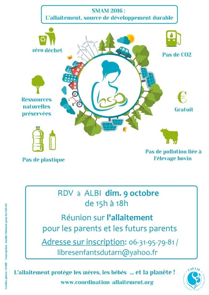 rencontre parents enfants allaitement smam 2016 albi tarn 81 libres enfants du tarn