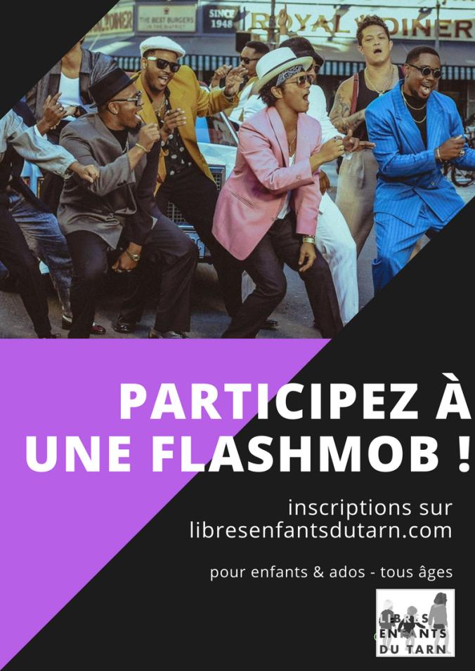 flashmob Gaillac libres enfants du tarn
