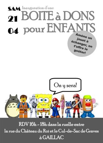 boite à dons libres enfants du tarn gaillac 81 troc jouets gratuit