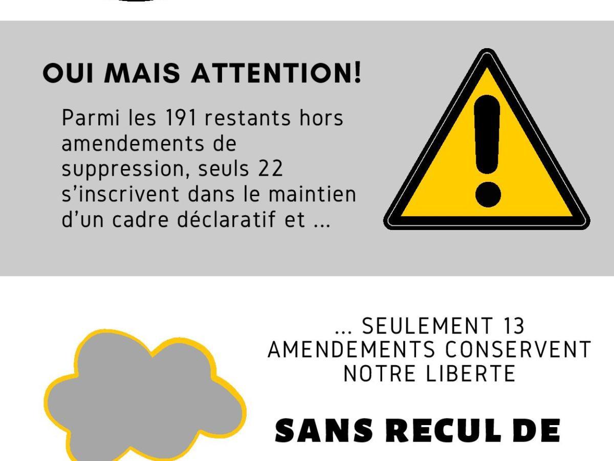 Infographie amendements article 21 projet de loi principes républicains IEF