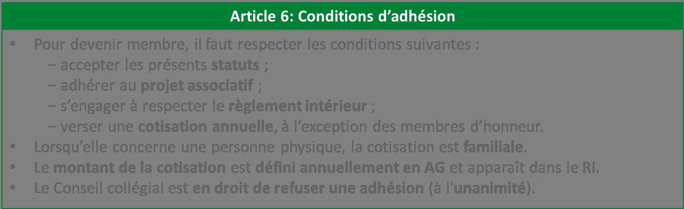 conditions d'adhésion association statuts Libres enfants du Tarn